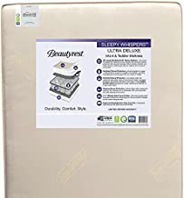 Beautyrest Beginnings Sleepy Whispers Ultra Deluxe 2-Stage Premium Innerspring Crib and Toddler Mattress - Waterproof - GREENGUARD Gold Certified (Non-Toxic) - Trusted - Made In USA