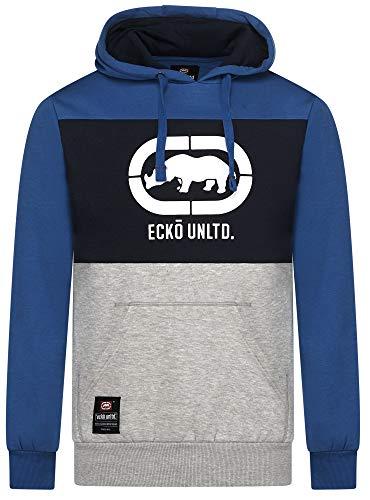 Ecko Unlimited Rhinos Pull à capuche en polaire à manches longues pour homme - Bleu - XL