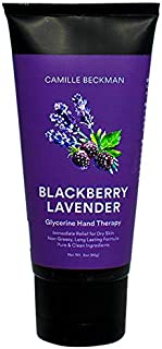 Camille Beckman Glycerine Hand Therapy Cream, Blackberry Lavender, 3 Ounce