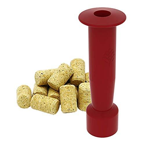 Browin 650003 - Kit pour Bouchon de vin : Machine à Bouchon martelé + 10 Bouchons en liège pressé Naturel, Bois, Rouge