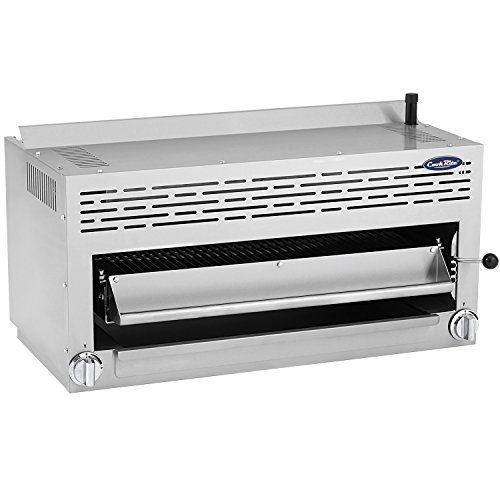 ATOSA US CookRite ATSB-36 Commercial Cheese Melter Salamander Broiler Infrared Raclette Countertop Grill Natural Gas 36