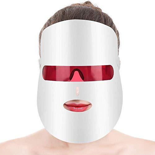 Mascarilla LED, Mascarilla de 7 colores para la cara, Colágeno de la máquina de belleza de rejuvenecimiento de la piel con fotones LED, Mascarilla facial para el cuidado de la piel, Antienvejecimiento