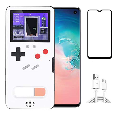 Homi2019 Gameboy Case for Samsung Galaxy S10, Retro 3D Protective Case, 36 Classic Little Games, Colour Screen, Shockproof Video Game Case Cover (Free Screen Protector for Phone)