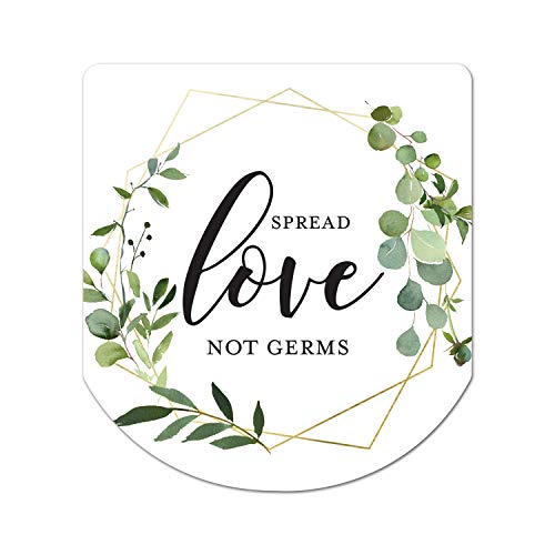 Hand Sanitizer Labels Thank You Wedding Favor Stickers - Set of 60 (Spread Love Not Germs)