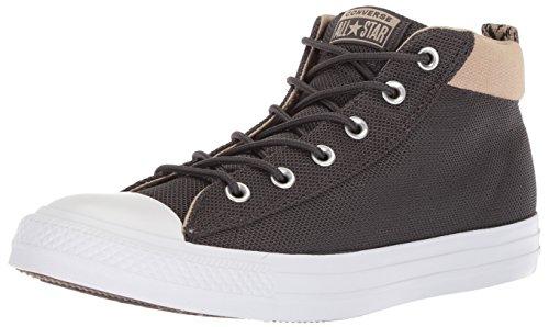 Converse Men's Street Nylon Mid Top Sneaker, Almost Black/Vintage Khaki, 11.5 M US