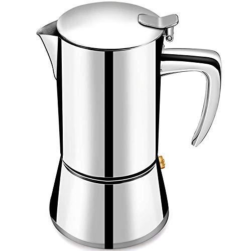 Tamkyo Cafetera Espresso con Acero Inoxidable, Olla Moka, Olla FáCil de Usar y de Limpieza RáPida, Cafetera Italiana CláSica