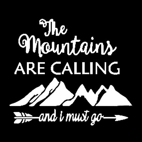 RUIRUI The Mountains Are Calling And I Must Go Unusual Vinyl Car Sticker Window Decal 17.7Cm*15.1Cm