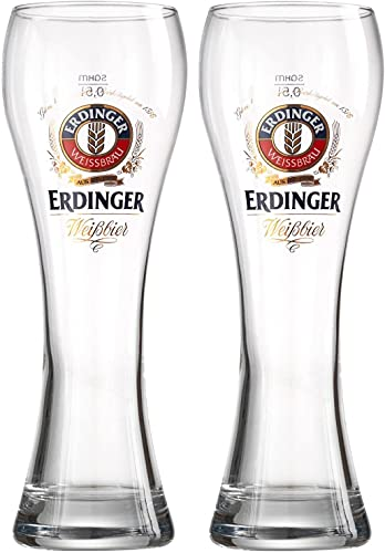 Erdinger German Weissbier Beer Glasses 0.3L (300ml) CE Marked (Set of 2)