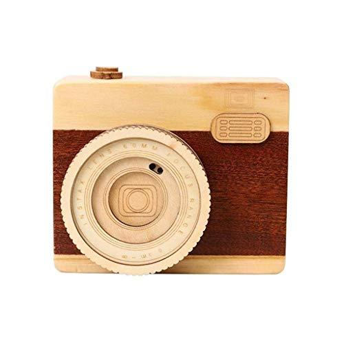 TcooLPE Wooden Classic Music Box handwerk met handslinger, 18-aanwijzingsmechanisme antiek gesneden Musical Box geschenken voor kinderen, vrienden, volwassenen