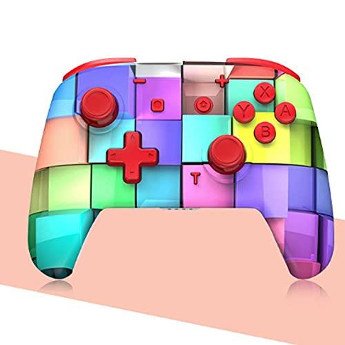 Zexrow Mando para Nintendo Switch, Mando Pro Controller Mando pc Inalambrico con Función Gyro Axis/Dual Shock y Turbo Compatible con Nintendo Switch (Color : Rubik'S Cube)