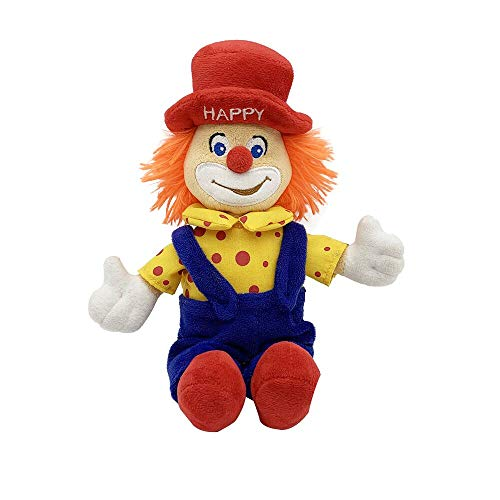 Plush Stuffed Toy Happy Clown Plush Toy Clown Animals Doll for Boys Girls (2 Pack)