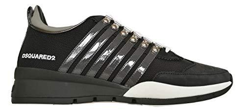 Dsquared 2 zapatillas bordadas., color Negro, talla 44 EU