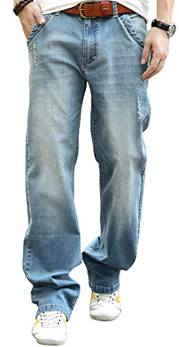 YOYEAH Men's Big and Tall Relaxed Fit Jean Comfortable Loose...