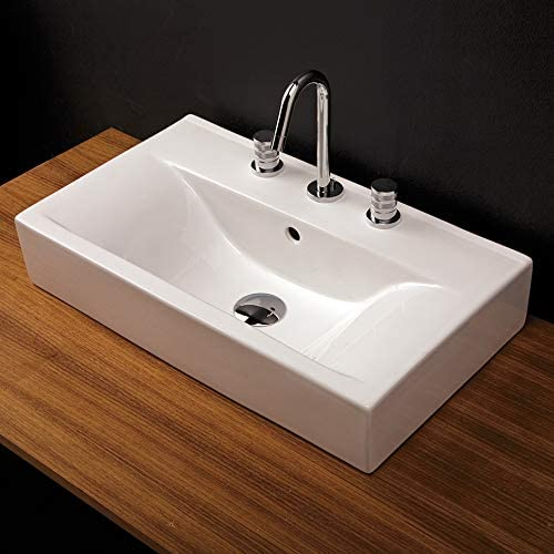 Vanity mart top porcelain lavatory without an 24 4