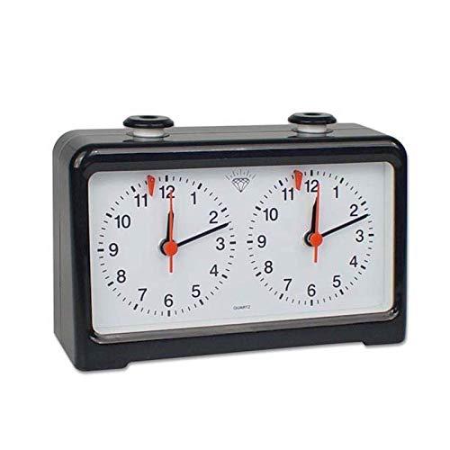 JIANGAA Temporizador de ajedrez Professional Chess Clock Juego Temporizador Analógico Reloj analógico Igo Cuenta Regresiva Temporizador Internacional Ajedrez Reloj 200 x 51 x 123 Mm
