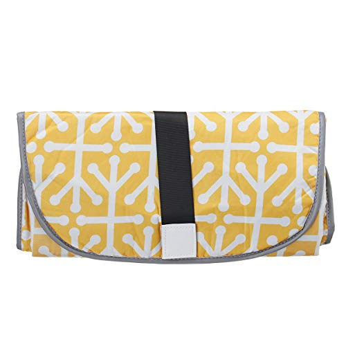 Recién nacidos portátil impermeable plegable pañal cambiador de pañales, bolsa de viaje (color: amarillo)