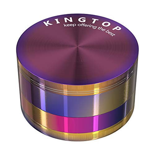 KINGTOP Herb Spice Grinder Large 3.0 Inch (Colorful)