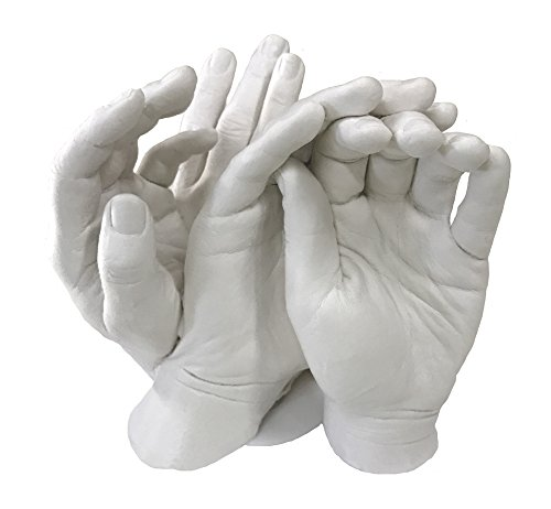 Family Hands Casting Kit. by Vesey Gallery. 1 Kilo of Alginate and 4kg of Stone Plaster.