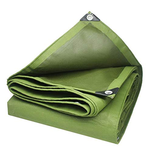 Bâche, ArmyGreen Heavy Duty Tarpaulins Heavy Material Waterproof Cover 650 GSM sup2; -0.75 mm (Size: 5 x 7 m)