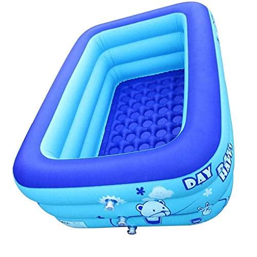 EElabper Aufblasbarer Pool Für Kinder, Familie Rechteckig Planschbecken, Mini Aufblasbare Badewanne Swimming-Pool, Für Gärten Im Freien Hinterhof-Partys 120x80x50cm