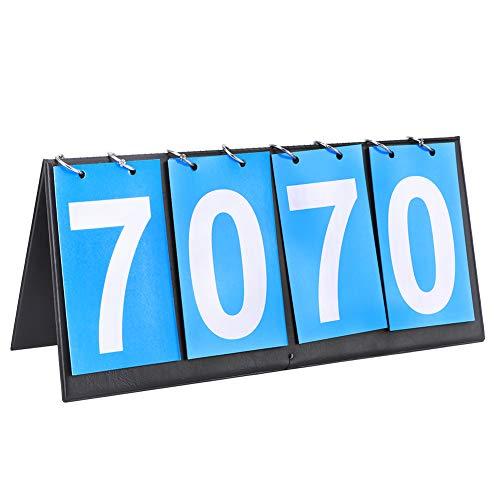 VGEBY Marcador de Baloncesto Azul de 4 dígitos Puntuación de Juego de...