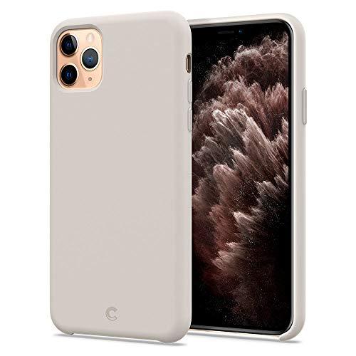 CYRILL iPhone 11 Pro Max Hülle, Silikon kompatibel mit iPhone 11 Pro Max Hülle (2019) (6,7 Zoll) Liquid Silicone mit PC rückseite 3-Layer Struktur - Stone Beige