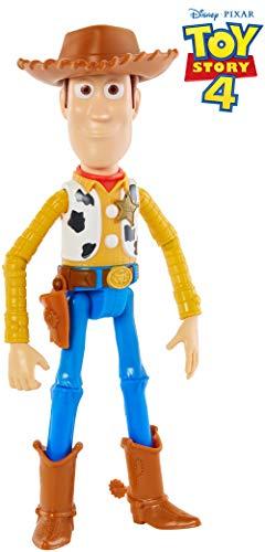 Toy Story- 4 Disney Pixar Woody Personaggio Articolato da 18 cm, Giocattolo per Bambini di 3+ Anni, GGX34