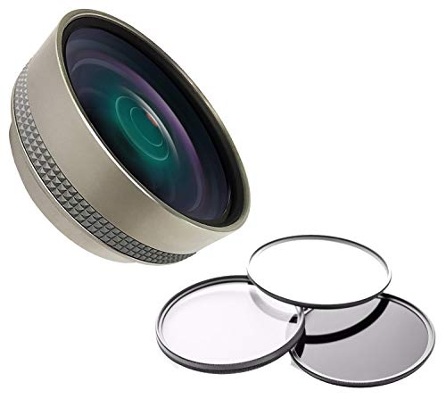 Lentes Canon PowerShot G7 X, G7x Mark II & G7x Mark III 0,45x de alta definição super grande angular com macro + kit de filtro + adaptador