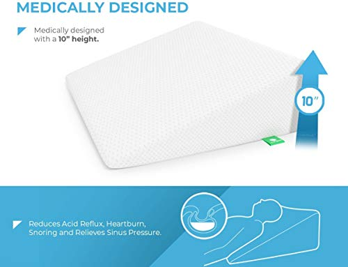 Wedge Pillow for Sleeping by Cushy Form