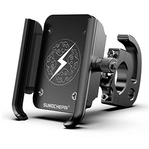 dauerhaft Handyhalterung Fahrrad Anti-Shake, 360° Rotation Universal Fahrradhalterung Motorrad Fahrrad Lenker für iPhone 11 Pro Max/Xs Max/Xr/X/8 Plus, Samsung Galaxy S10 Plus Geschenk, Black