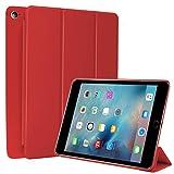 N NEWTOP Cover Compatibile per Apple iPad Mini 4 da 7.9' Pollici 2015, Custodia Flip Smart Libro Ori Case Ultra Sottile Leggera Stand Supporto Funzione Wake/Sleep Simil Pelle (Rosso)