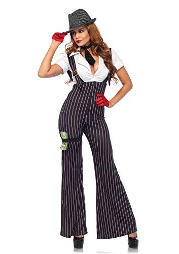 Leg Avenue 85560Nero/Bianco Tirapugni Babe Costume Set (S/UK 6–8, 3)