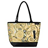 VON LILIENFELD Cabas Besace Gustav Klimt L'arbre de vie Sac Bandoulière Spacieux Sacs Portés Èpaule Cabas Décontractés Art