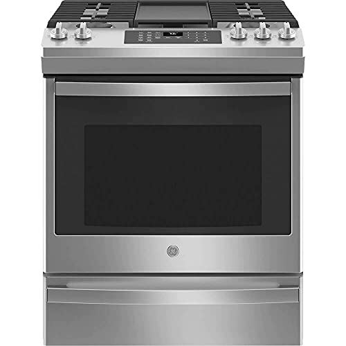 GE JGS760SPSS 30 Inch Slide-In Gas Range with 5 Sealed...