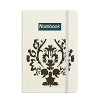 フラワーブラック並列バロック芸術のパターン ノートブッククラシックジャーナル日記A 5