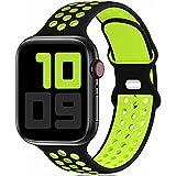 Fengyiyuda Sostituzione sportiva in silicone compatibile con cinturino Apple Watch 42mm 44mm 45mm, compatibile con iWatch serie...