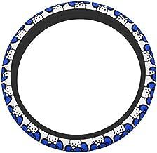 ZLCMMF Blue Hello Kitty Steering Wheel Cover Auto Car Accessories Universal 15 Inch Black