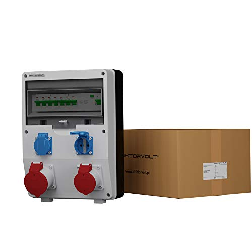 Baustromverteiler ECO-S/FI 1x16A 1x32A 2x230 Steckdosenverteiler Wandverteiler Bals Dosen Komplett LSS/FI 10kA Stromverteiler Doktorvolt 2633