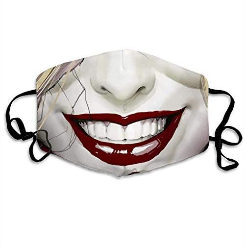 Clown Mund Mundabdeckung Gesichtsabdeckung Weiß
