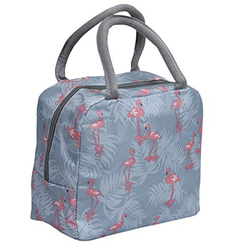Yellow Weaves Fabric and Metal Insulated Travel Lunch/Tiffin/Storage Bag for Office, College & School (Multicolour)
