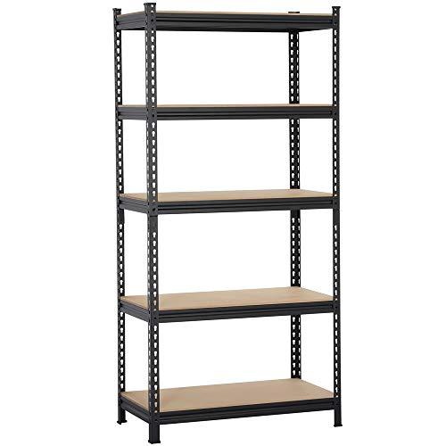 Giantex 3-Tier Folding Bookshelf Standing Shelf Units Display Rack Storage Shelf Industrial Style Utility Shelving with Metal Frame & Wood Layer (Rustic Brown, 23.5