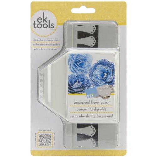 EK Tools 54-51009 Poinçon Floral, Plastique/Métal, Gris, 3,63 x 11,91 x 19,41 cm
