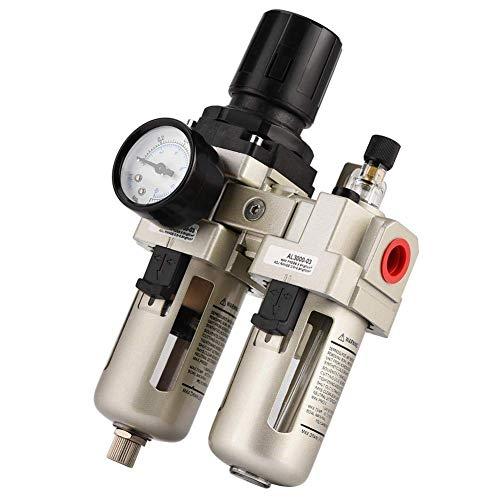 """LHQ-HQ. AC3010-03 3/8"""" 1Mpa Aluminiumlegierung Druckluftdruckregler Feuchtigkeitsfilter Wasserfilter"""