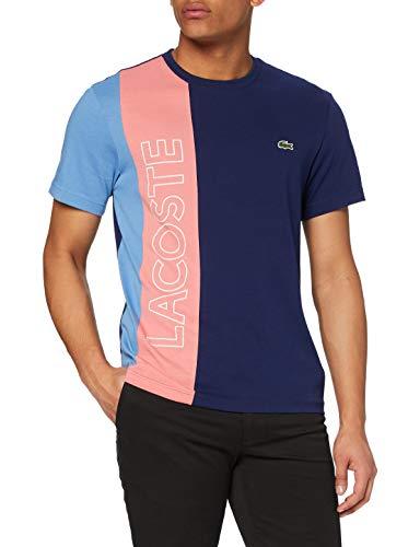 Lacoste Herren TH0113 T-Shirt, Scille/Amaryllis-Turquin, L