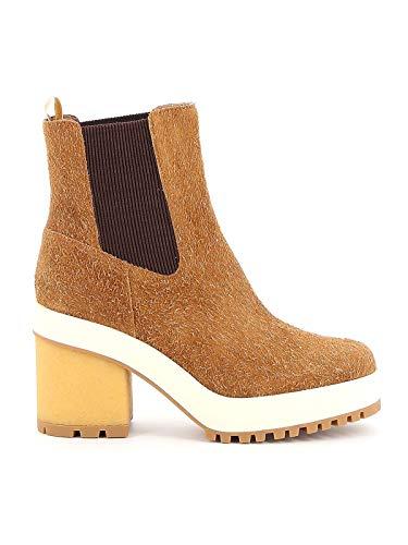 Hogan Luxury Fashion Damen HXW4750BZ70LQLC821 Braun Elastan Stiefeletten | Herbst Winter 19