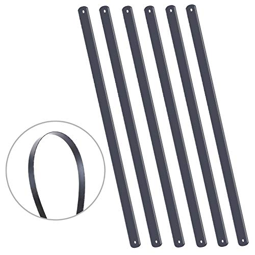 KEILEOHO 30 PCS 12 Inches 24 TPI Hacksaw Replacement Blades, Made of Black Strong Carbon Steel with Premium Strength Shatter Proof Fits Various Materials for Most Hacksaws 1/2 Inch Width
