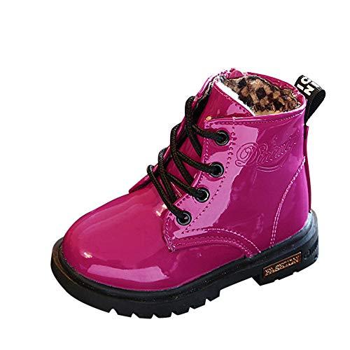BaZhaHei Zapatillas de Niños Niña Bebé Botas de otoño e Invierno para niños Botines Impermeables Niños Moda Niños Niñas Zapatillas de Deporte Invierno Gruesa Nieve Bebé Zapatos Casuales Impermeables