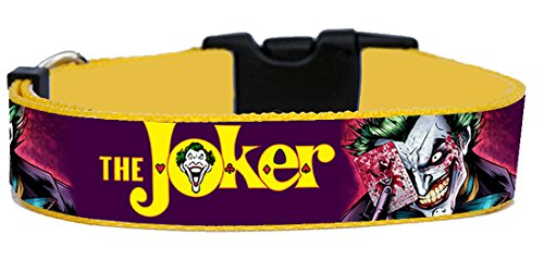 MasTazas The Joker Batman Hundehalsband Handgemachte Größe XL Ohne Hundeleine Dog Collar Handmade