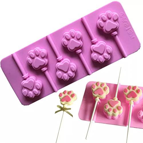 PJTL Molde de Silicona en Forma de Pata de Perro y Gato DIY Forma de jabón de Chocolate Molde para Hornear pastelería Herramienta de decoración de Pasteles para Hornear