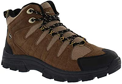 Donner Mountain Rocky Mens Hiking Boots, Insulated Traction Mid-Ankle Waterproof Boots for Men